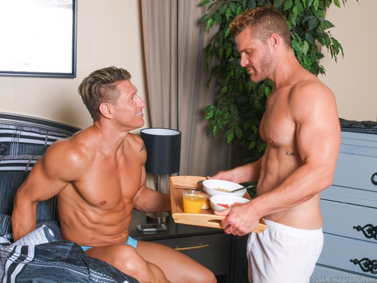 Braxton Smith and Caleb Troy cram their huge cocks down each other's throats