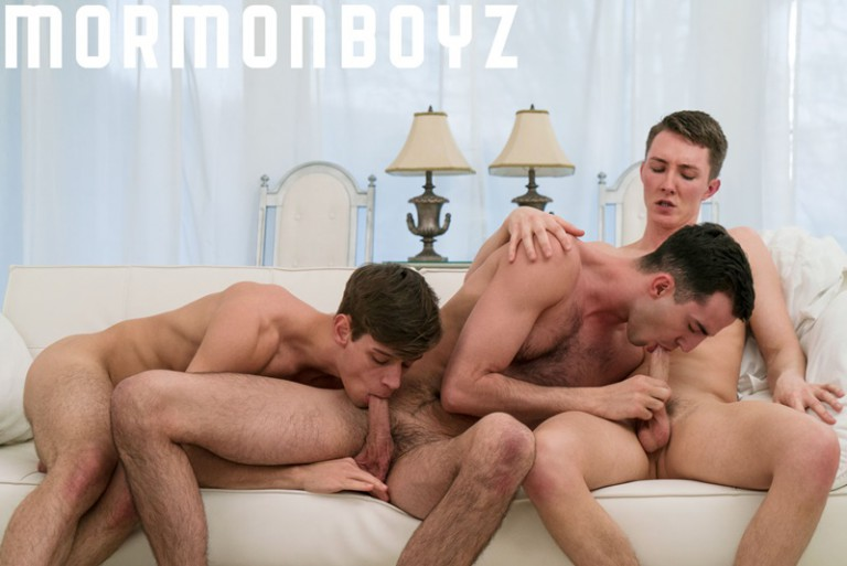 Mormon Boyz bareback fucking threesome with Elder Ence, Elder Dudley and Elder Sorensen