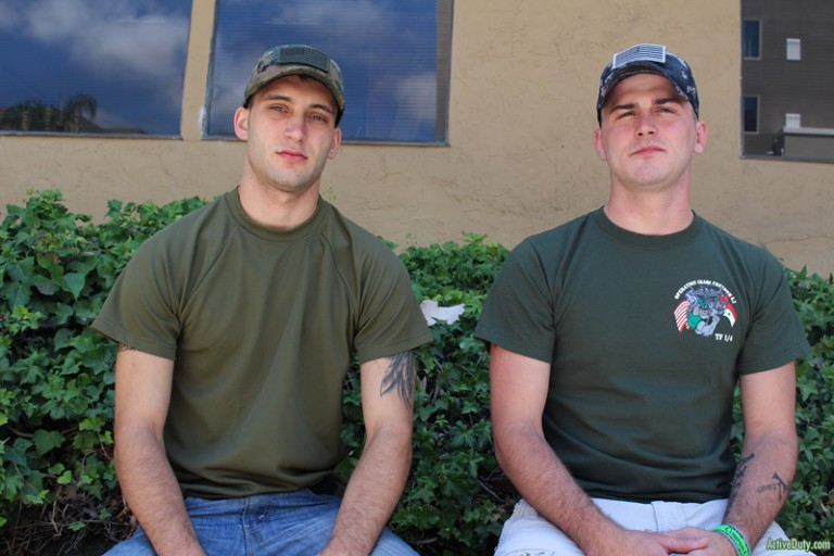 Sexy young military naked men Ricky Stance's huge dick fucks Scott Millie's tight muscle asshole