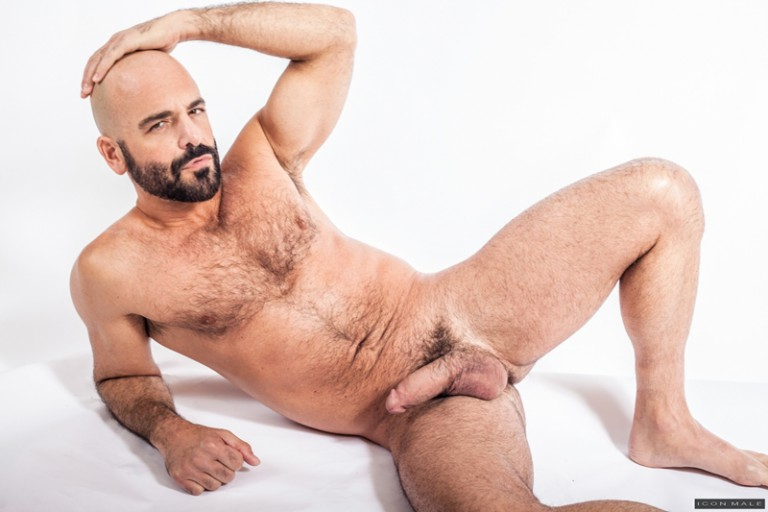 Brendan Patrick jumps on top of Adam Russo and slips his lover's pole inside of him