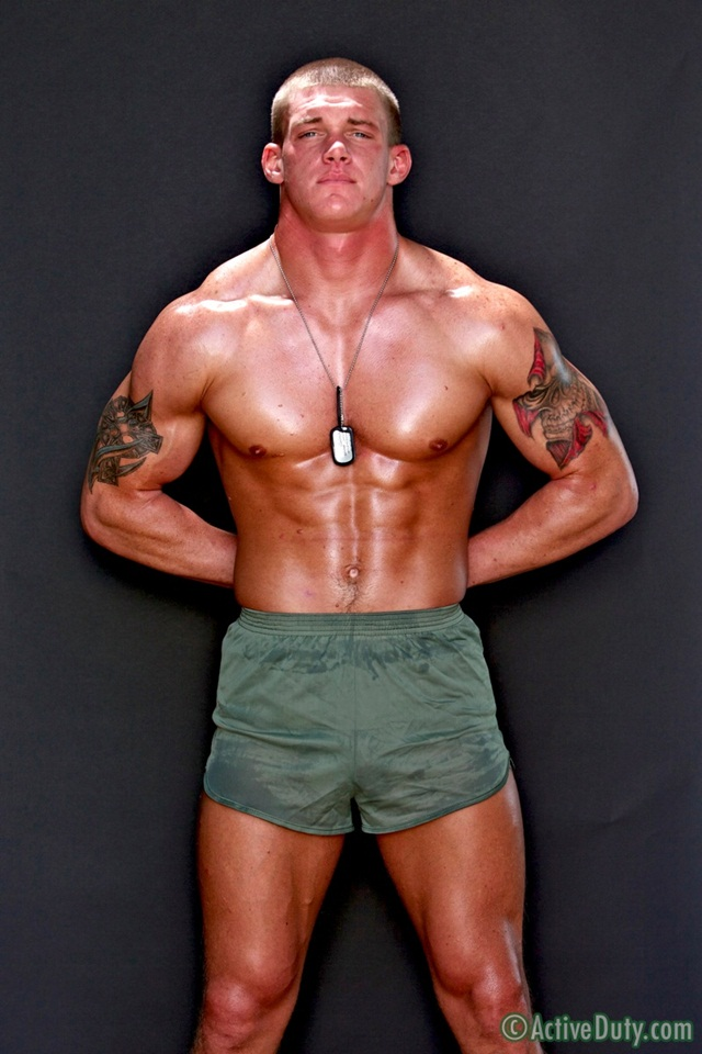 Straight Tanner is 23 years old pure American naked beef at Active Duty