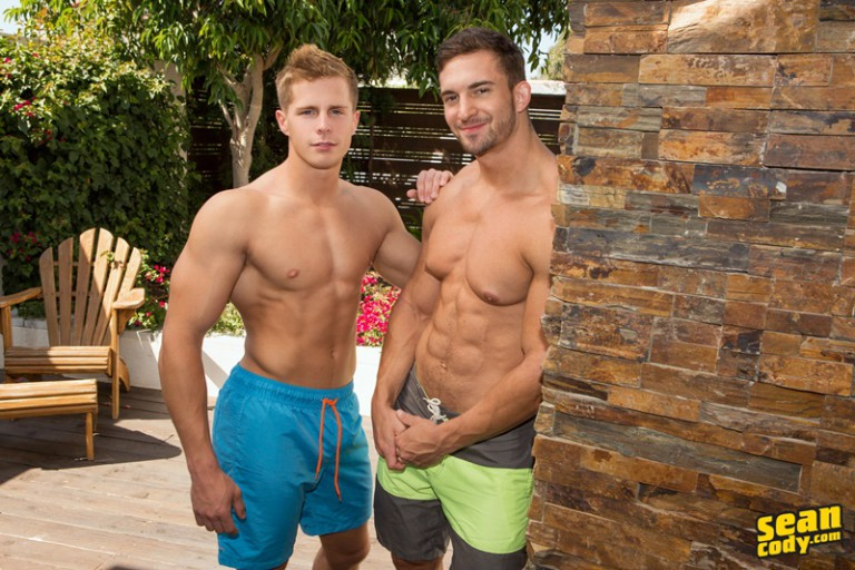 Sean Cody muscle bottom Joey bareback fucked hard in his tight raw asshole by Nixon