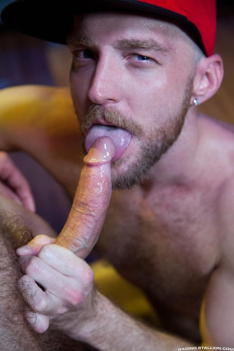 Men for Men Blog Devin-Totter-James-Stevens-bearded-facial-hair-thick-big-dick-sucking-rimming-ass-RagingStallion-015-gay-porn-pictures-gallery Devin Totter bounces up and down on James Stevens' thick pole until his ass is wide open Raging Stallion