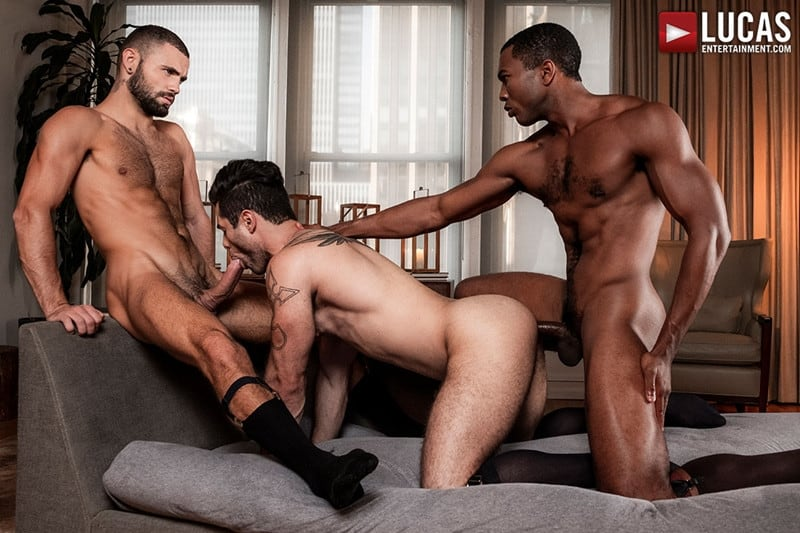 Men for Men Blog Sean-Xavier-Lucas-Leon-Jeffrey-Lloyd-Interracial-anal-fuck-suck-fest-big-cock-LucasEntertainment-018-gay-porn-pictures-gallery Interracial anal fuck and suck fest Sean Xavier and Lucas Leon persuade Jeffrey Lloyd to get his big beautiful cock out Lucas Entertainment