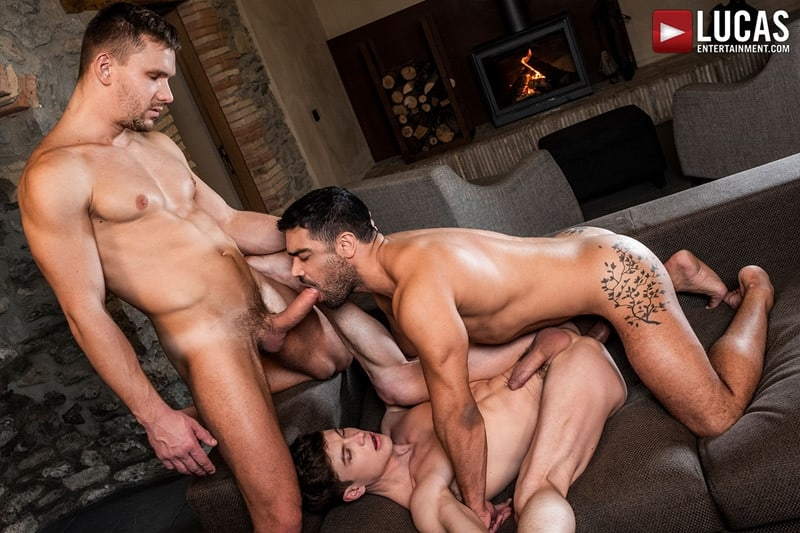 Men for Men Blog Gay-Porn-Pics-022-Andrey-Vic-Wagner-Vittoria-Ruslan-Angelo-Hot-gay-threesome-huge-dicks-double-fuck-hot-muscle-ass-LucasEntertainment Hot gay threesome Andrey Vic and Wagner Vittoria's huge dicks double-fuck Ruslan Angelo's hot muscle ass Lucas Entertainment