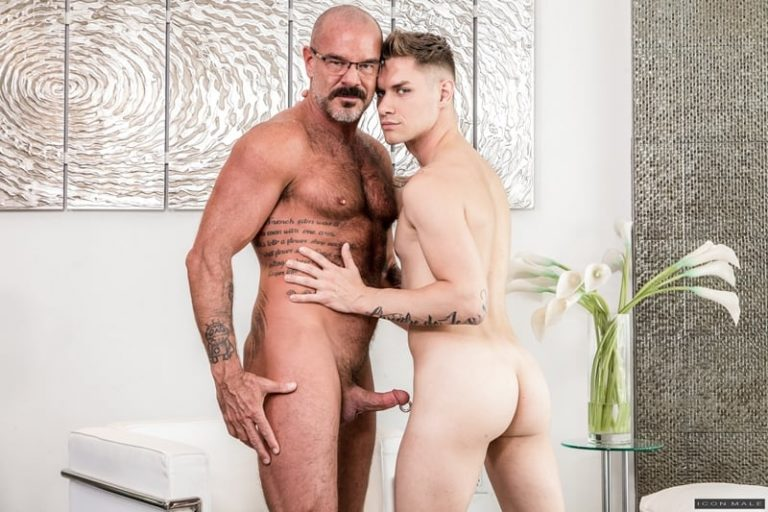 Big hairy daddy Jack Dyer fucks young dude Zak Bishop's hot smooth bubble ass