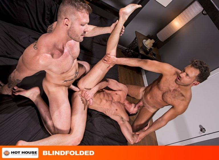 Austin Wolf and Logan Moores' huge cocks double fuck hottie Skyy Knox's hot holes